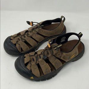 Men's Keen brown waterproof sandals size 12